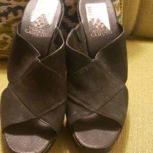 Never Worn Vince Camuto Black Leather Mules